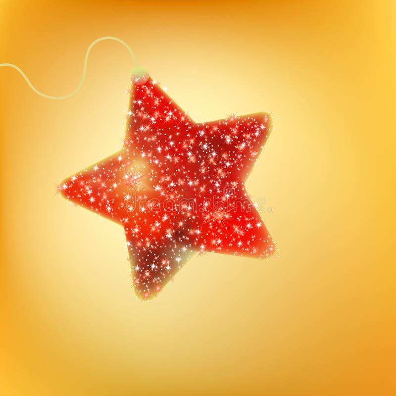 Cartão com uma estrela do vermelho do twinkling. EPS 8 ilustração royalty free