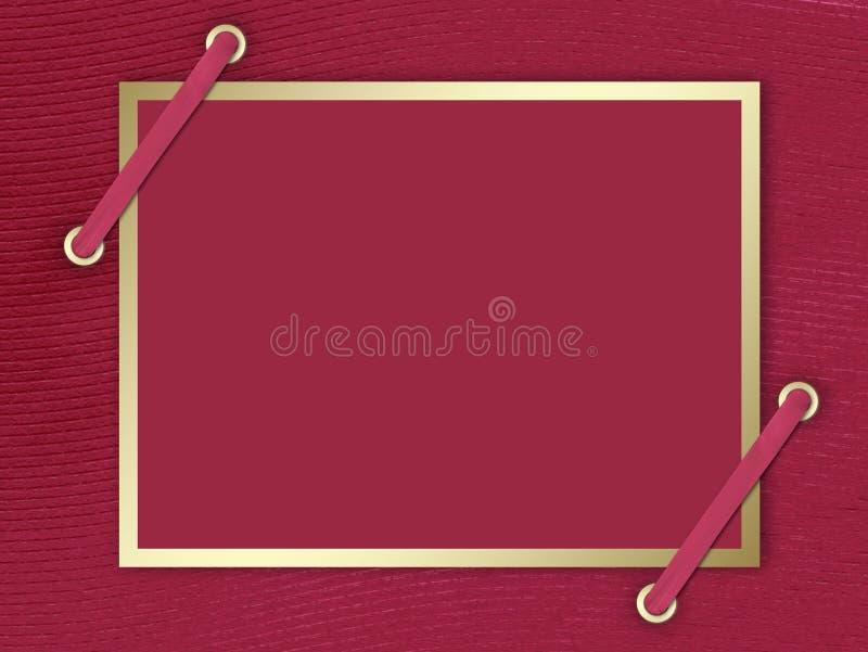 Cartão-convite ao fundo do claret ilustração do vetor