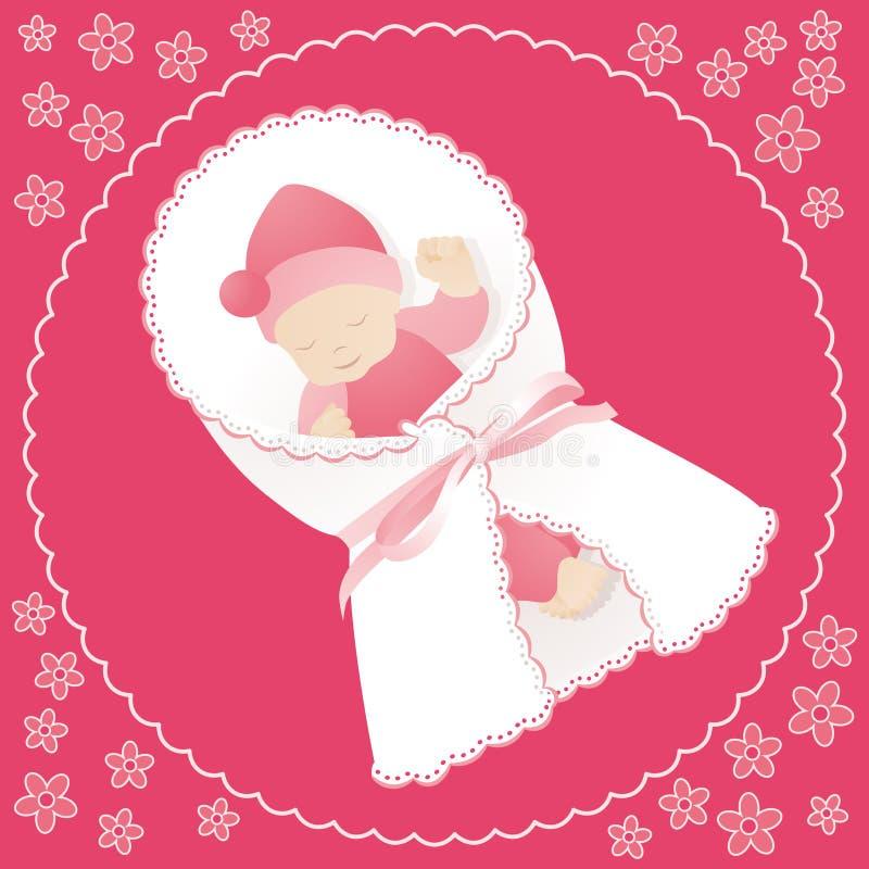 Cartão cor-de-rosa ilustração do vetor