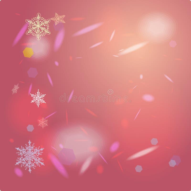 Cartão cor-de-rosa abstrato do fundo para o Feliz Natal ilustração royalty free