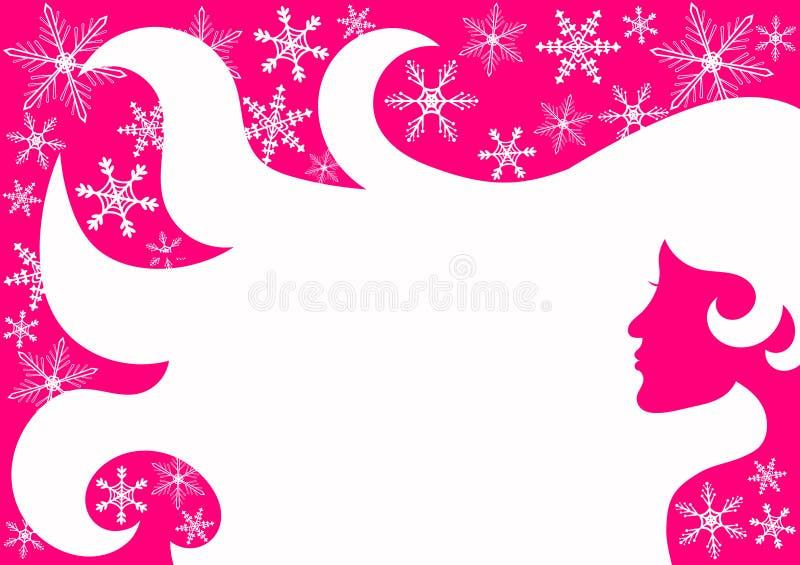 Cartão cor-de-rosa do bar da beleza ilustração stock