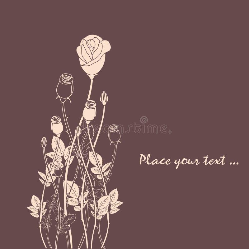 Cartão cor-de-rosa do convite da flor do sumário ilustração do vetor