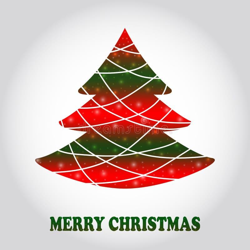 Cartão creativo da árvore de Natal ilustração royalty free