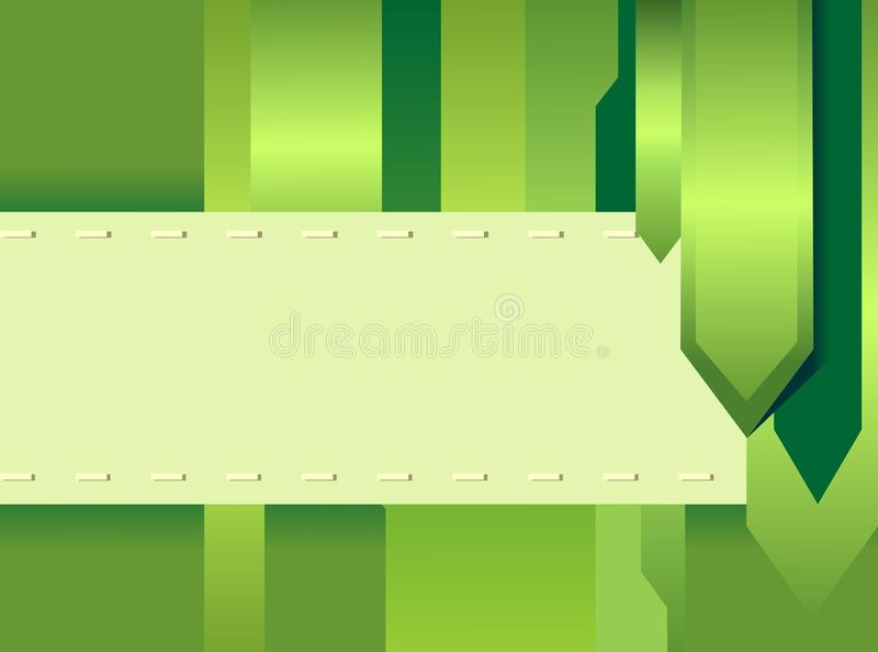 Cartão creativo verde ilustração stock