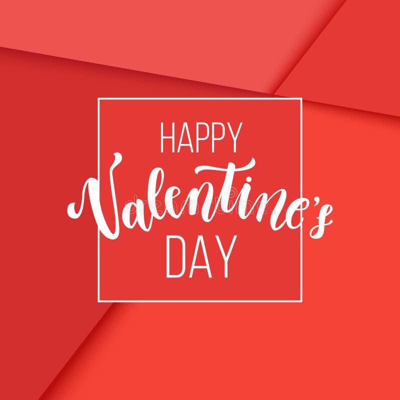 Cartão criativo de Valentine Day, mínimo romântico ilustração royalty free