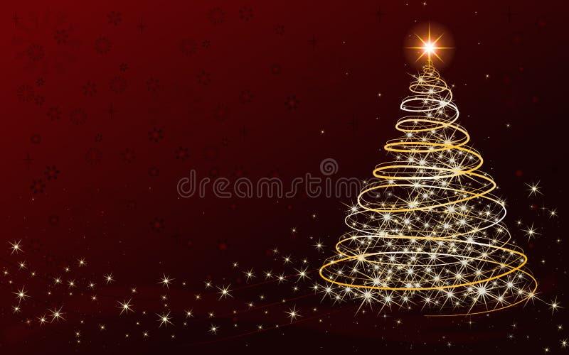 Cartão da árvore de Natal - com lugar para seu próprio texto imagem de stock