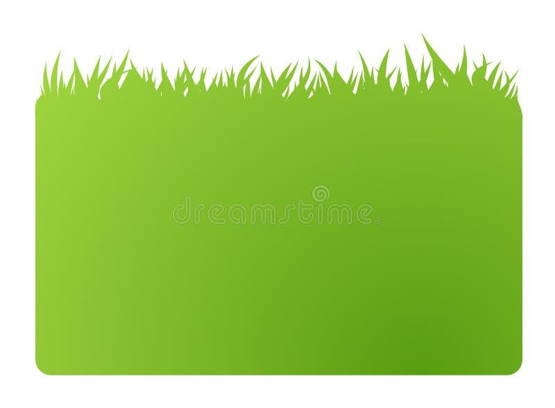 Cartão da bandeira do verde de Eco ilustração do vetor