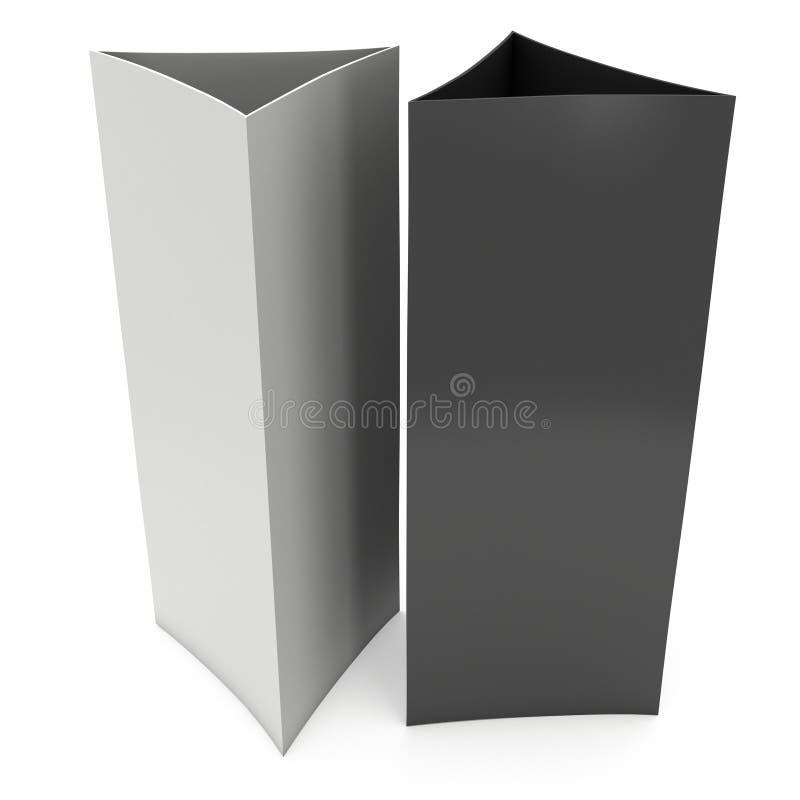 Cartão da barraca do papel vazio 3d rendem ilustração royalty free