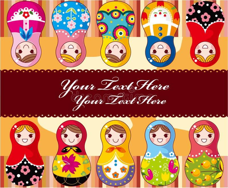Cartão da boneca do russo