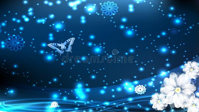 Cartão da borboleta ilustração do vetor