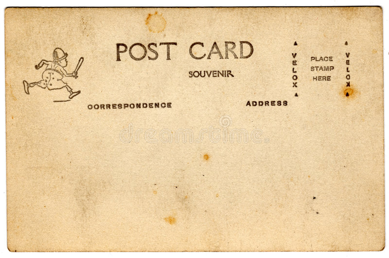 Cartão da brownie da lembrança imagem de stock