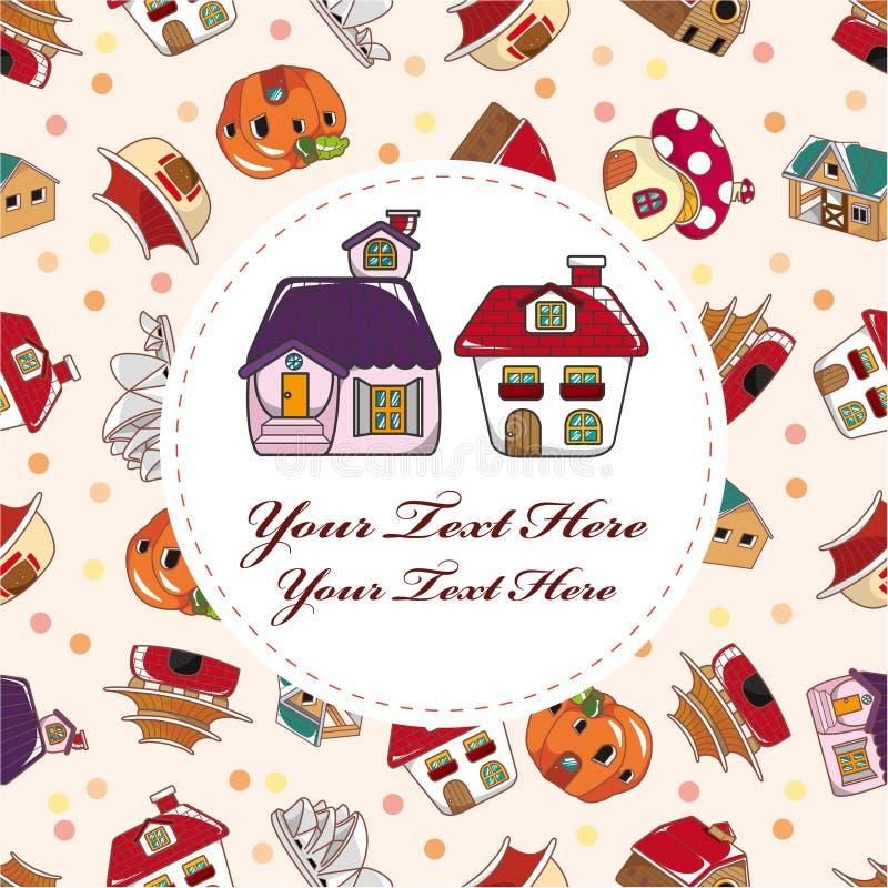Cartão da casa dos desenhos animados ilustração royalty free