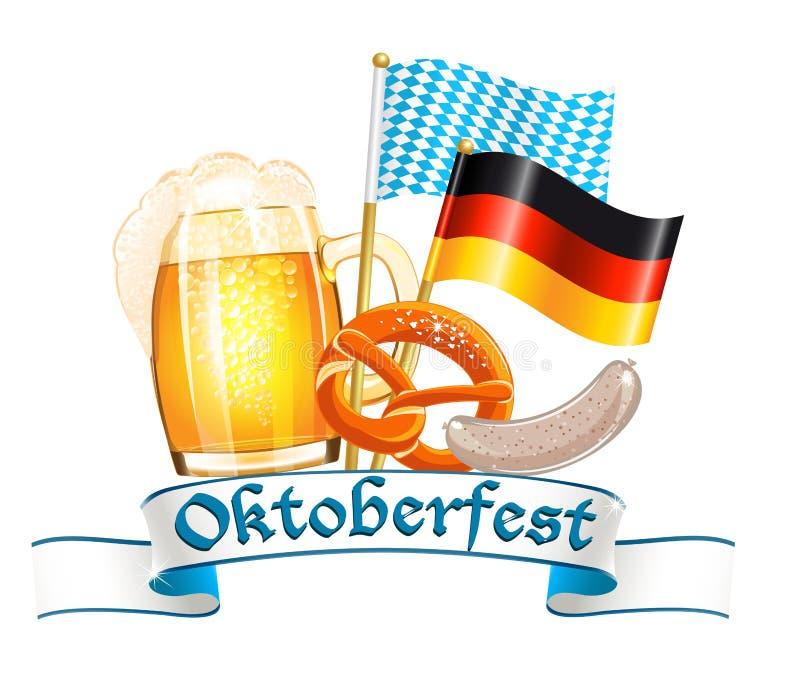 Cartão da celebração de Oktoberfest ilustração royalty free