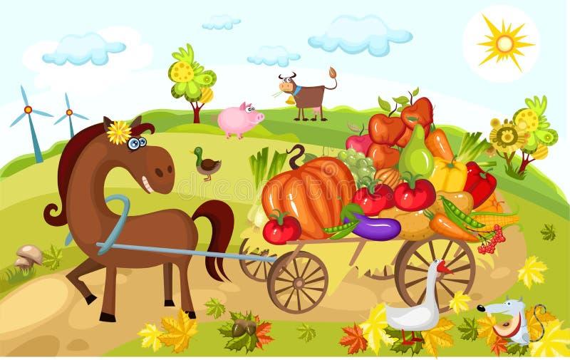 Cartão da colheita ilustração do vetor