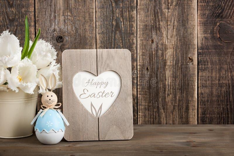 Cartão da decoração da Páscoa imagem de stock