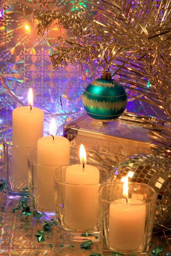 Cartão da decoração do Natal - foto conservada em estoque imagem de stock