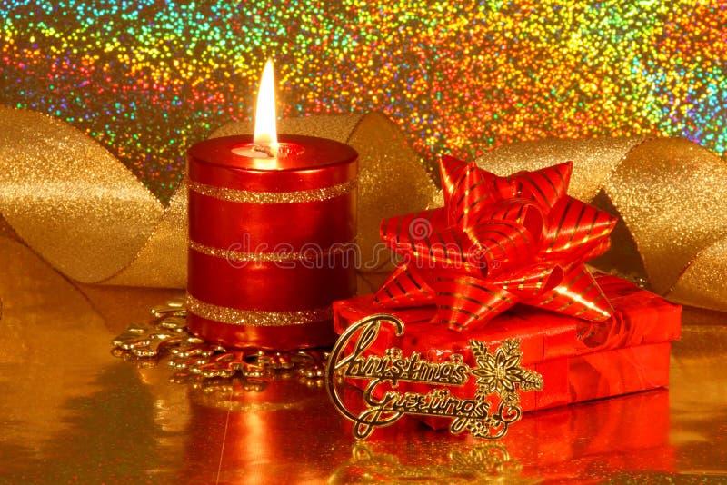 Cartão da decoração do Natal - foto conservada em estoque imagens de stock royalty free