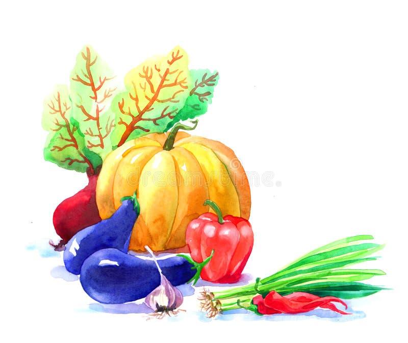 Cartão da estação do outono dos jardins imagens de stock royalty free