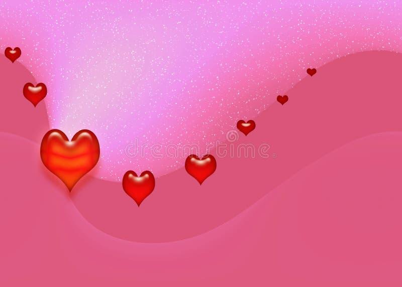 Cartão da fantasia dos Valentim ilustração stock
