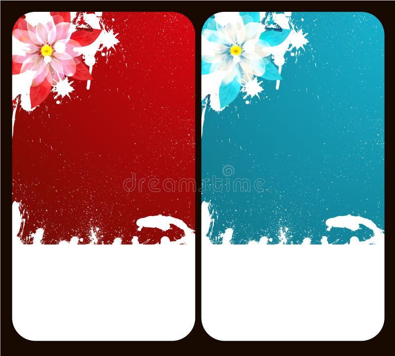 Cartão da flor ilustração stock