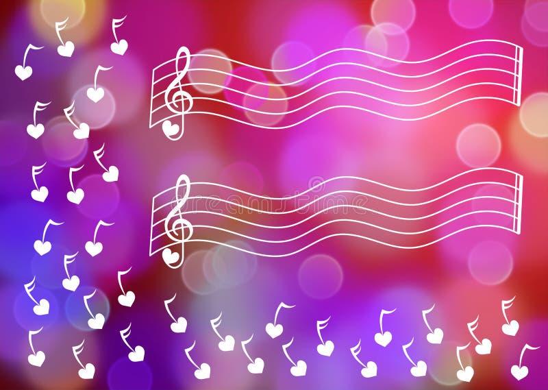 Cartão da folha de música ilustração royalty free