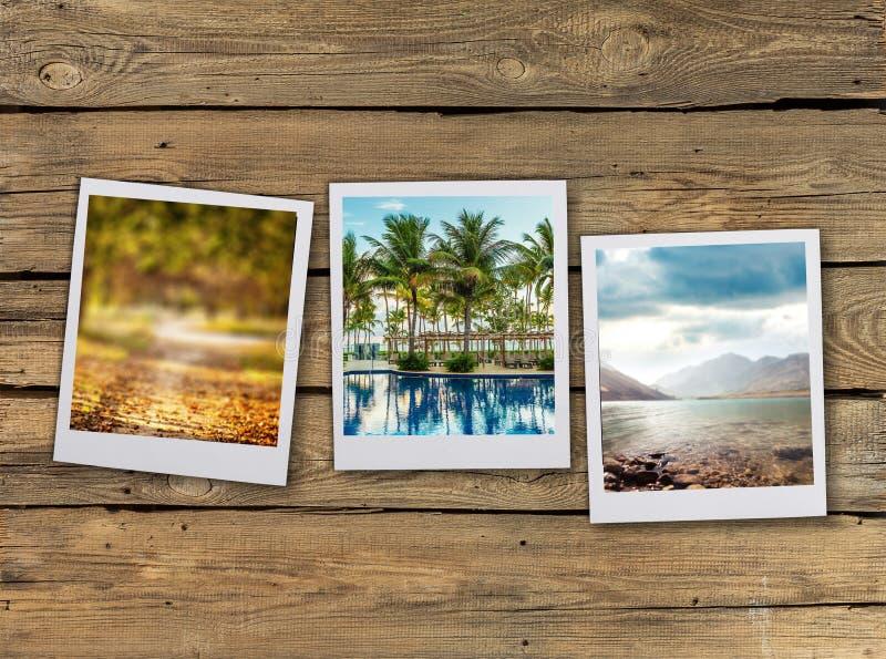 Cartão da foto na tabela foto de stock