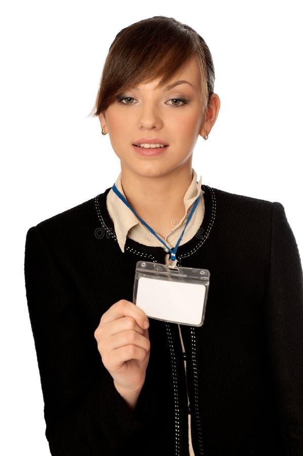 Cartão da identificação imagem de stock