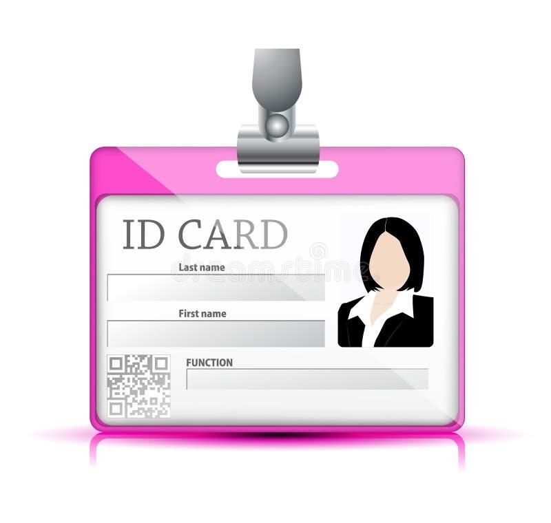Cartão da identificação ilustração stock