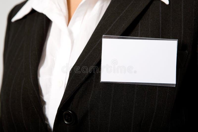 Cartão da identificação imagem de stock royalty free