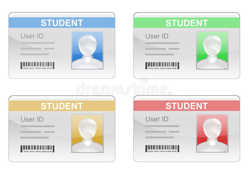 Cartão da identificação do estudante ilustração do vetor