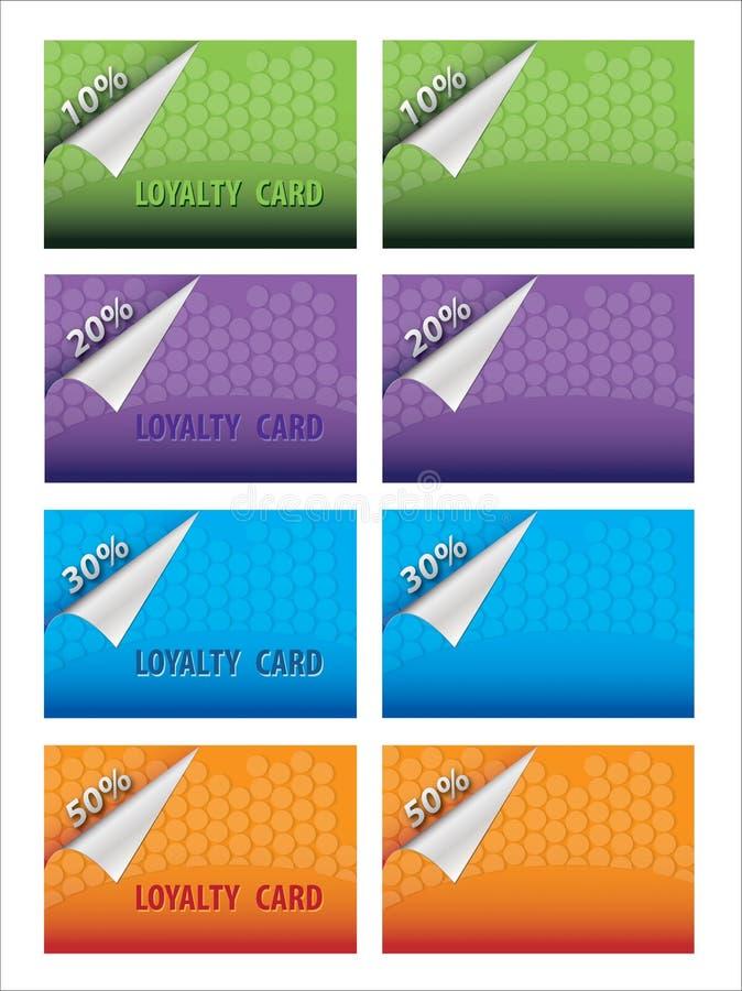 Cartão da lealdade imagens de stock royalty free