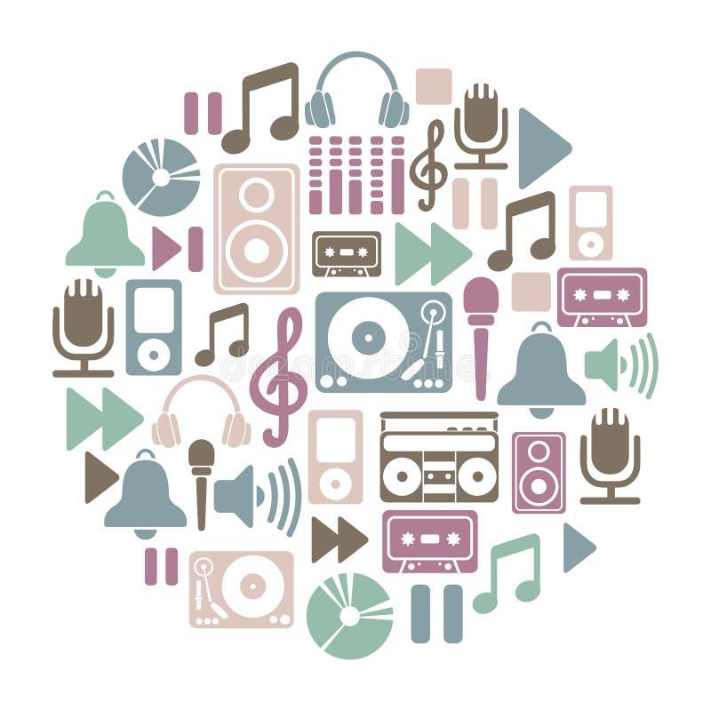 Cartão da música ilustração do vetor