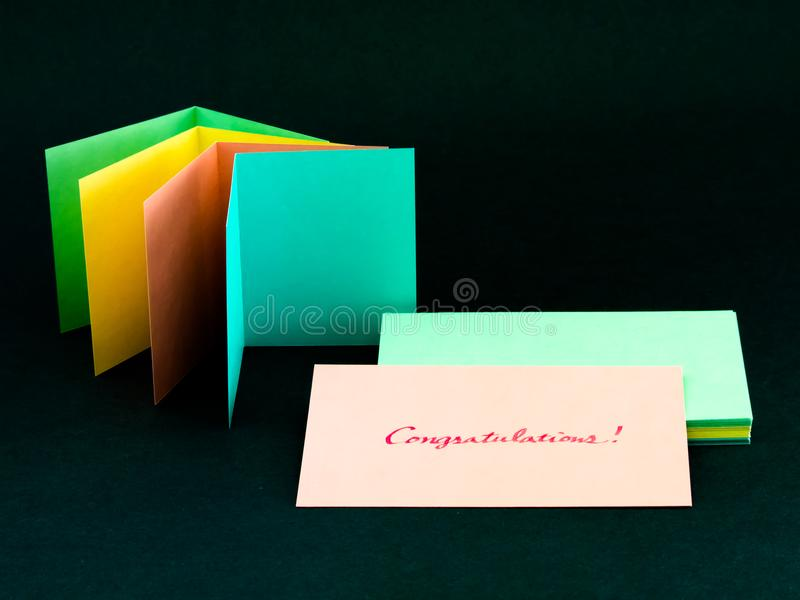 Cartão da mensagem para seus família e amigos; Felicitações! foto de stock royalty free