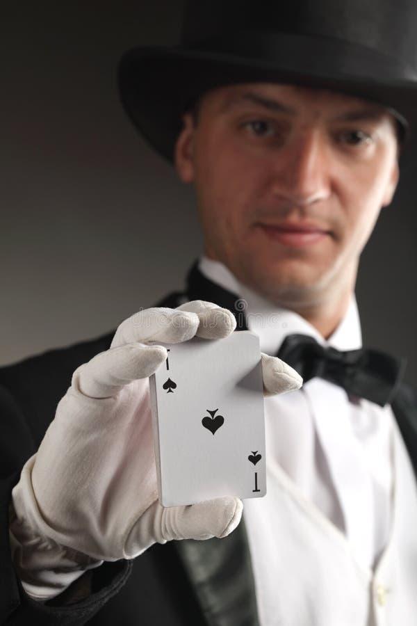 Cartão da mostra do mágico fotos de stock