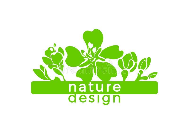 Cartão da natureza do vetor Etiqueta botânica da beleza Flor da am?ndoa ilustração do vetor
