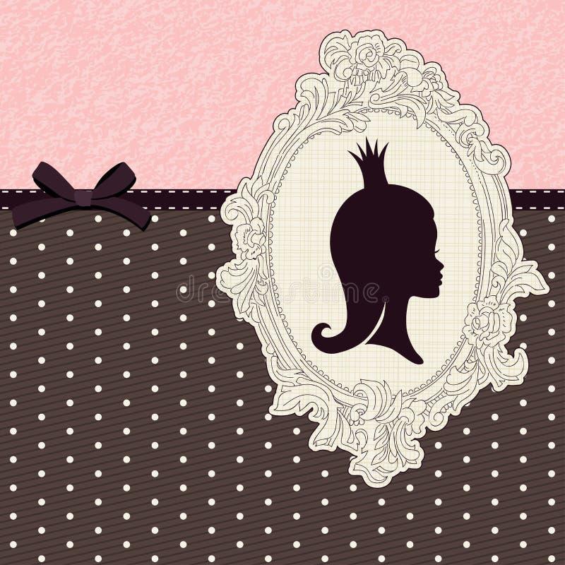 Cartão da princesa ilustração do vetor