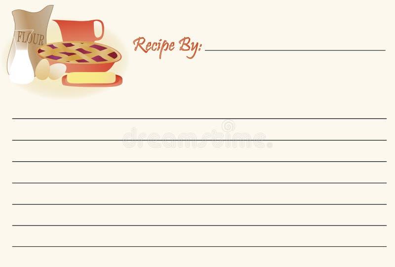 Cartão da receita - cozimento ilustração royalty free