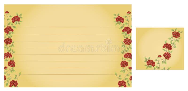 Cartão da receita do casamento ilustração royalty free