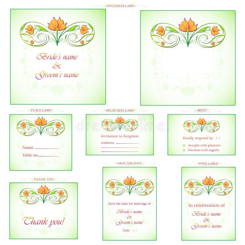 Cartão da recepção ilustração royalty free