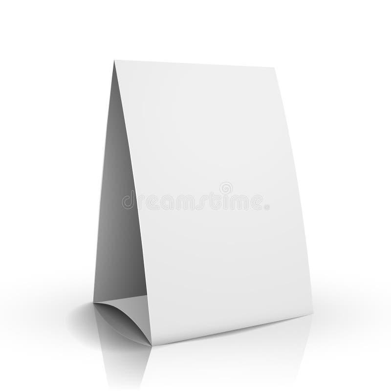 cartão da tabela do Livro Branco da placa do vetor 3d ilustração stock