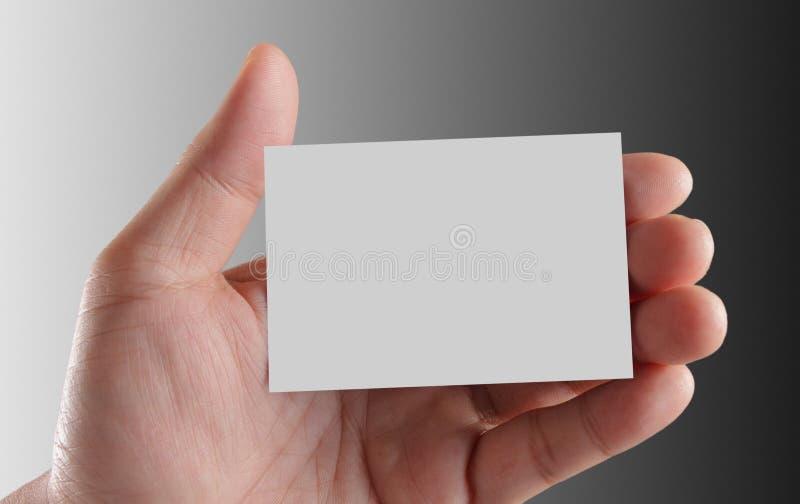 Cartão da terra arrendada da mão imagens de stock royalty free