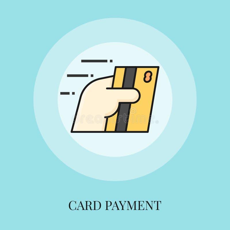 Cartão da terra arrendada da mão, conceito do pagamento do cartão ilustração royalty free