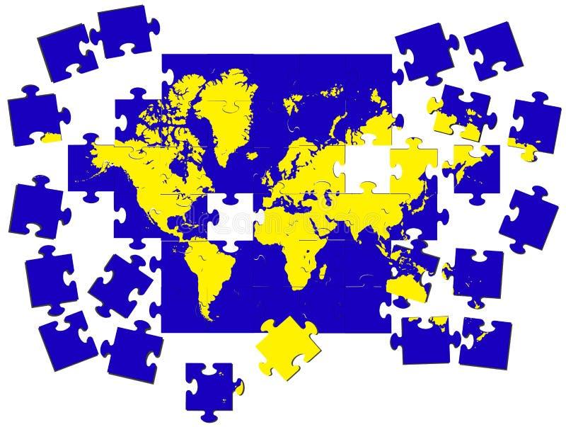 Cartão da terra de um enigma um vetor ilustração royalty free