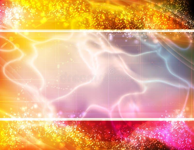 Cartão das cores ilustração stock