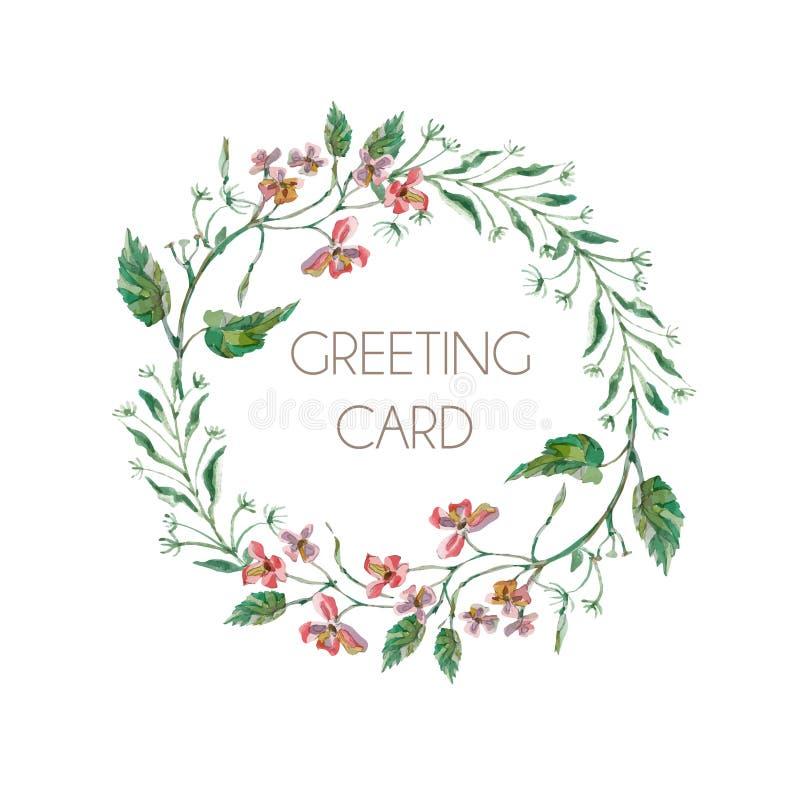 Cartão das flores ilustração royalty free