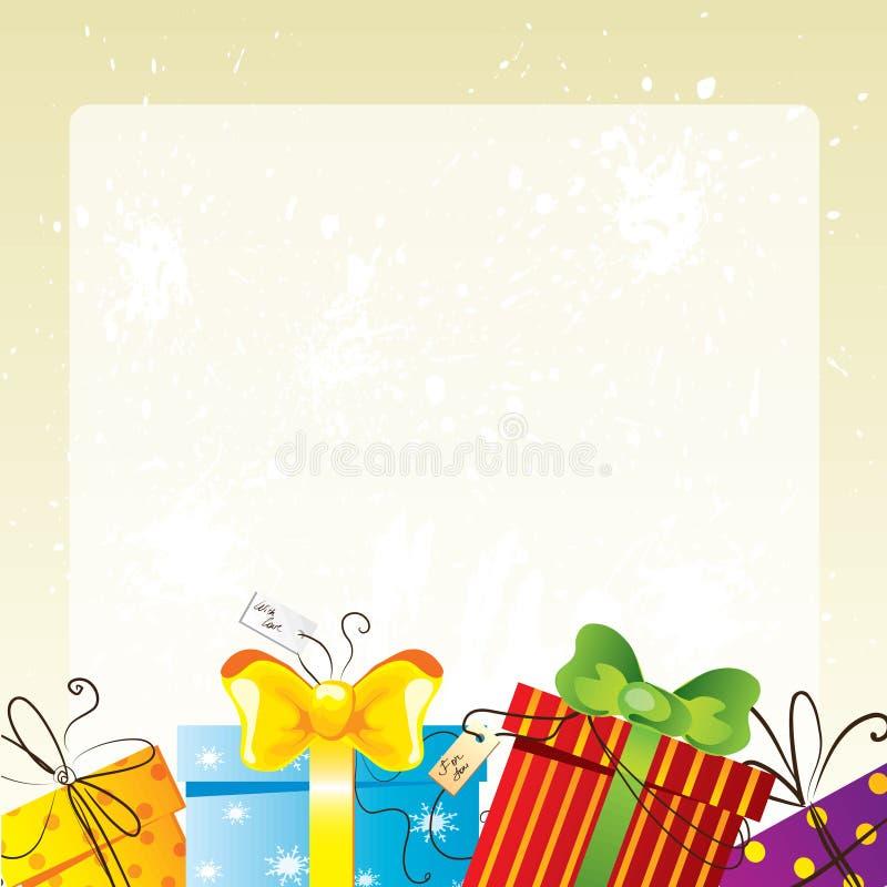 Cartão de aniversário ilustração royalty free