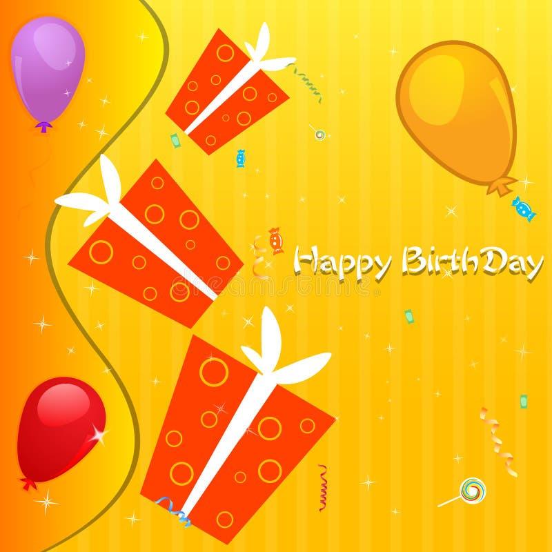 Download Cartão de aniversário ilustração stock. Ilustração de festive - 16870590