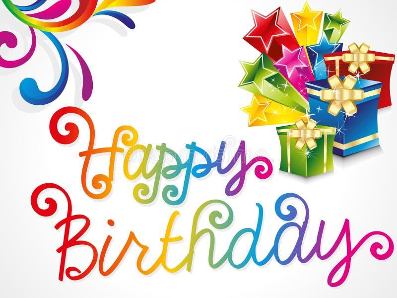 Cartão de aniversário colorido abstrato ilustração royalty free