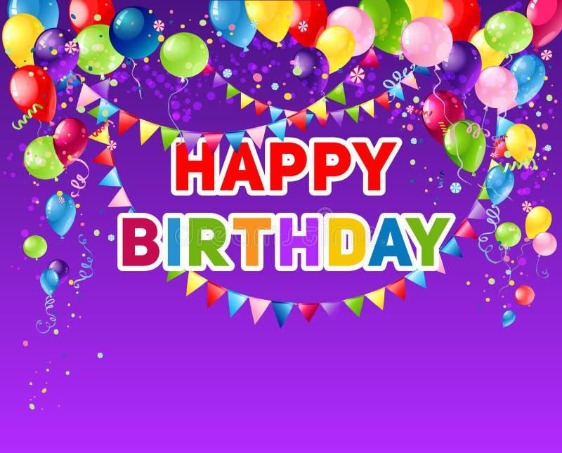 Cartão de aniversário positivo do feriado ilustração stock