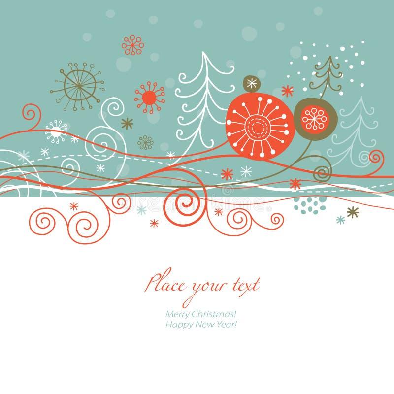 Cartão de ano novo ilustração do vetor